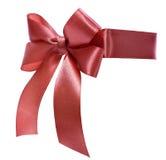 сатинировка тесемки смычка красная Стоковое Фото