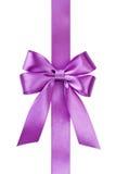 сатинировка тесемки смычка розовая Стоковое Изображение RF