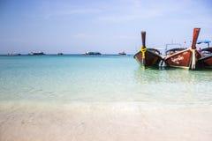 Сатин Lipe Koh моря и шлюпки стоковое изображение