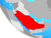 Саудовская Аравия на глобусе иллюстрация штока
