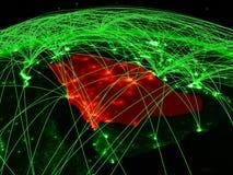 Саудовская Аравия на зеленом глобусе иллюстрация вектора