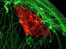 Саудовская Аравия на зеленом глобусе бесплатная иллюстрация