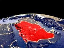 Саудовская Аравия на земле от космоса иллюстрация вектора