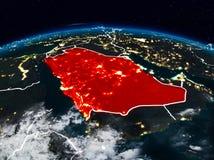 Саудовская Аравия на ноче стоковая фотография rf