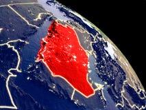 Саудовская Аравия от космоса иллюстрация вектора