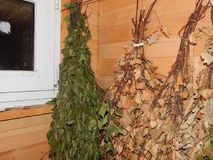 Сауна ванны steamied в деревянном Стоковая Фотография