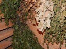Сауна ванны steamied в деревянном Стоковое Изображение RF