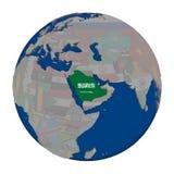 Саудовская Аравия на политическом глобусе Стоковое Изображение RF