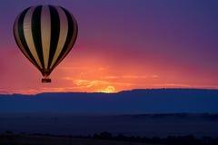 Сафари воздушного шара стоковая фотография rf
