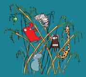 сафари животных смешное Стоковое Изображение
