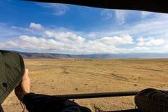 Сафари кратера Ngorongoro Стоковое Фото