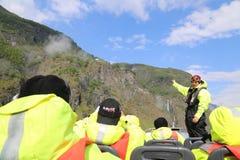 Сафари фьорда в Flam, Норвегии Стоковые Фотографии RF