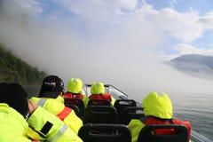 Сафари фьорда в Flam, Норвегии Стоковые Изображения