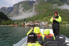 Сафари фьорда в Flam, Норвегии Стоковое фото RF