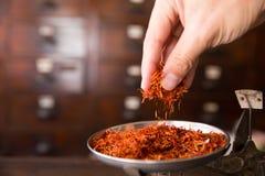 Сафлор для чая диеты и здоровая низко- тучная диета смазывают Стоковое Изображение RF