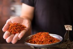 Сафлор для чая диеты и здоровой низко- тучной диеты Стоковое Фото