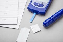 Сахарный диабет, увеличенные уровни сахара в крови стоковые изображения