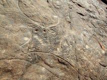 Сахарское искусство утеса Стоковая Фотография