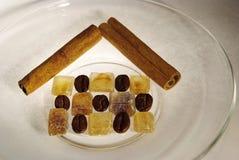 сахар дома кофе циннамона фасолей кристаллический Стоковые Фотографии RF