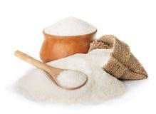 Сахар изолированный на белизне Стоковая Фотография RF