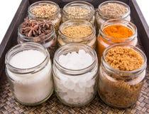 Сахар и специи i стоковые изображения rf