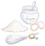 Сахар и яичка Стоковое Изображение