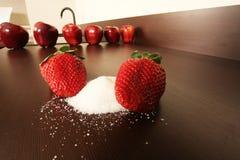 сахар клубники Стоковая Фотография