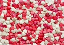 Сахар кондитерскаи брызгая в форме сердца Стоковое Изображение RF