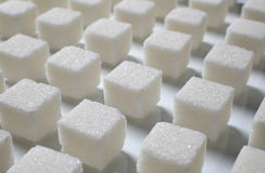 сахар кучи кубиков стоковые фото