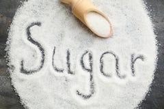 Сахар надписи Стоковое Изображение