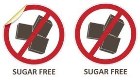 Сахар освобождает значки Стоковое Изображение