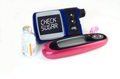 сахар проверки крови ваш Стоковые Изображения RF