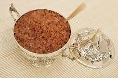 сахар серебряной ложки шара Стоковые Фото