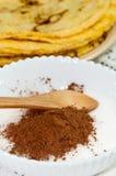 Сахар с какао для блинчиков Стоковое Изображение
