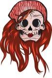 сахар черепа девушки дня мертвый Стоковые Фотографии RF