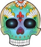 сахар черепа дня мертвый схематичный Стоковое Изображение RF