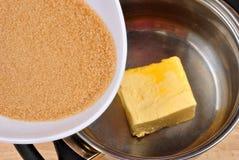 сахар шара коричневый органический положенный к Стоковые Фотографии RF