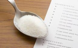 сахар spoonful Стоковая Фотография
