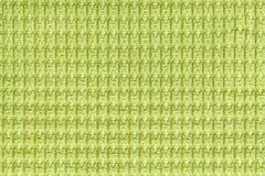 Салатовая предпосылка от мягкого ворсистого конца ткани вверх Текстура макроса тканей Стоковое Фото