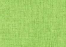 Салатовая текстура холста Стоковое Фото