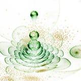 Салатовый цветок фрактали с цветнем Стоковая Фотография RF