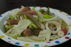 Салат лапши целлофана Стоковое фото RF