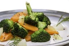 Салат брокколи моркови Стоковые Фотографии RF
