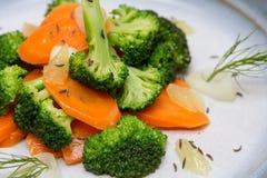 Салат брокколи моркови Стоковое Изображение