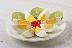 Салат вареного яйца пряный Стоковая Фотография RF