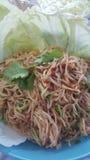 Салат вермишели риса пряный стоковая фотография rf