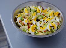 Салат весны с яичками Стоковая Фотография