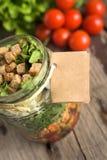 Салат в опарнике Стоковое Изображение