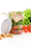 Салат в опарнике Стоковое фото RF