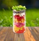 Салат в опарнике Стоковые Изображения RF